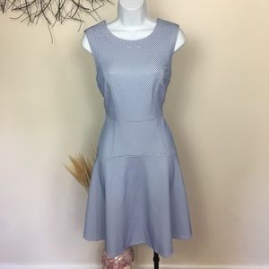 Sleeveless TOMMY HILFIGER blue work career dress